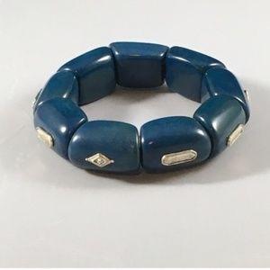 """NWT Silpada """" Polished Palms"""" stretch  bracelet"""